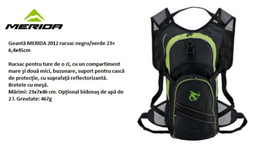 Merida backpack text