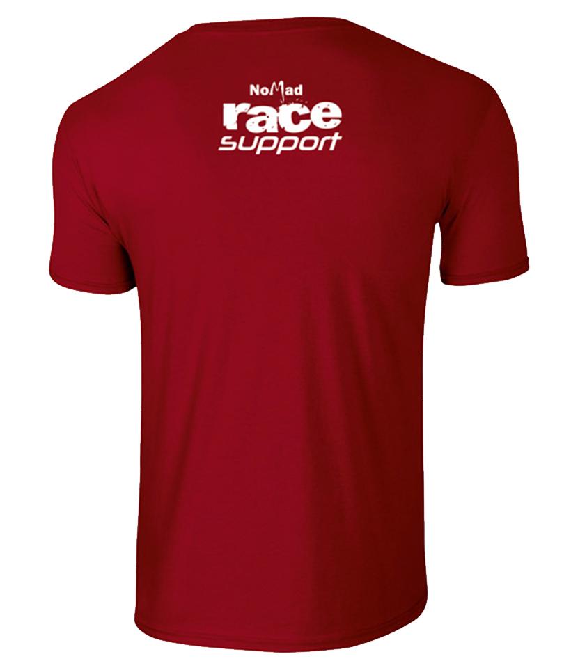 Tricou rosu de organizator - spate Prima Evadare 2014