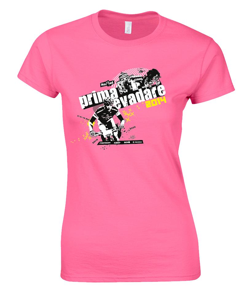 Tricou roz de fata Prima Evadare 2014