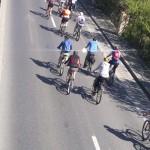trecerea pe langa podul de la Otopeni, cel mai mare antrenament pentru concursul Prima Evadare, 300 de biciclisti
